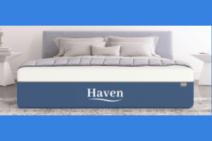 The Haven mattress on a bed
