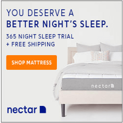 a Nectar mattress on a bed