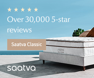 Saatva mattress next to a pool