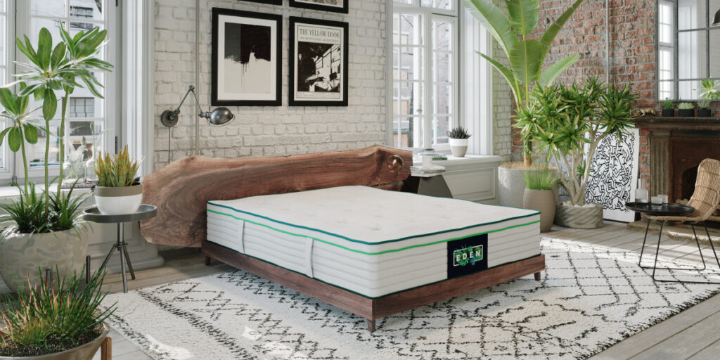 The Eden Sleep organic mattress in a room