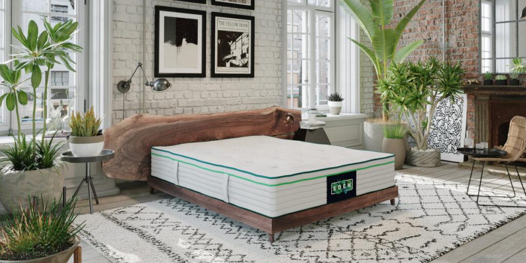 The Eden Sleep organic mattress in a room