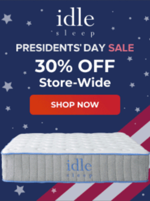 Idle Sleep President's Day Sale Offer